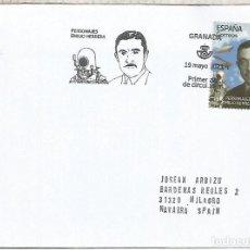Sellos: ESPAÑA SPAIN FDC GRANADA EMILIO HERRERO INVENTOR ESCAFRANDA ESPACIO SPACE. Lote 278972328