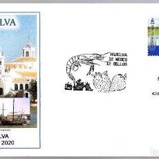 Sellos: MATASELLOS PRIMER DIA - 12 MESES 12 SELLOS - HUELVA. HUELVA 2020. Lote 278977563