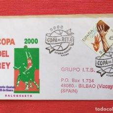 Sellos: SOBRE CON MATASELLOS. COPA DEL REY. BALONCESTO. VITORIA-GASTEIZ, ALAVA, 2000. Lote 279465913