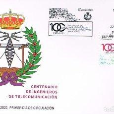 Sellos: CENTENARIO DE INGENIEROS DE TELECOMUNICACIONES, PRIMER DIA DE 22-4-2021. Lote 279578408