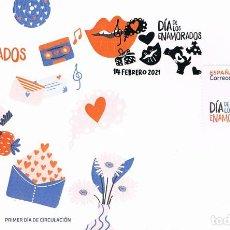 Sellos: DÍA DE LOS ENAMORADOS, PRIMER DIA DE 14-2-2021. Lote 279578583
