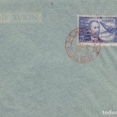 Sellos: DR THEBUSSEM 1944 ED 983 DIA DEL SELLO , FIESTA HISPANIDAD EN SPD PRIMER DIA MADRID TINTA ROJA. Lote 280728108