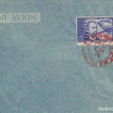 Sellos: DR THEBUSSEM 1944 ED 983 DIA DEL SELLO , FIESTA HISPANIDAD EN SPD PRIMER DIA MADRID TINTA ROJA. Lote 280728343