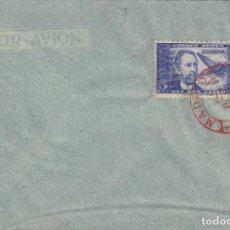 Sellos: DR THEBUSSEM 1944 ED 983 DIA DEL SELLO , FIESTA HISPANIDAD EN SPD PRIMER DIA MADRID TINTA ROJA. Lote 280728368