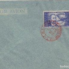 Sellos: DR THEBUSSEM 1944 ED 983 DIA DEL SELLO , FIESTA HISPANIDAD EN SPD PRIMER DIA MADRID TINTA ROJA. Lote 280728568