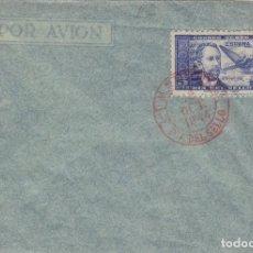 Sellos: DR THEBUSSEM 1944 ED 983 DIA DEL SELLO , FIESTA HISPANIDAD EN SPD PRIMER DIA MADRID TINTA ROJA. Lote 280728618