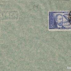 Sellos: DR THEBUSSEM 1944 ED 983 DIA DEL SELLO , FIESTA HISPANIDAD EN SPD PRIMER DIA MADRID TINTA NEGRA. Lote 280728743