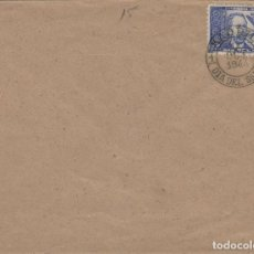 Sellos: DR THEBUSSEM 1944 ED 983 DIA DEL SELLO , FIESTA HISPANIDAD EN SPD PRIMER DIA MADRID TINTA NEGRA. Lote 280728788