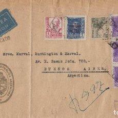 Sellos: CARTA CERTIFICADA CONSULADO ARGENTINA EN SEVILLA .FRANQUEO MIXTO . MARCAS CONSULADO Y CENSURA . RARA. Lote 280854753