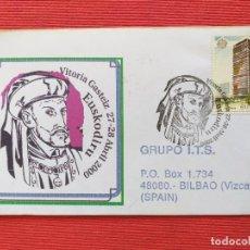 Sellos: SOBRE CON MATASELLOS: EUSKODIRU - CARLOS V - ORDEN DEL TOISON DE ORO. VITORIA-GASTEIZ, 2000. Lote 281982813