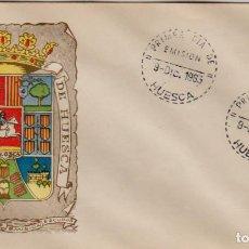 Francobolli: ESPAÑA 1963 SPD: 9.DIC.63 ''ESCUDOS DE PROVINCIAS: HUESCA'' ED. 1492 SFC./ BONITO: VER FOTO.. Lote 284466508