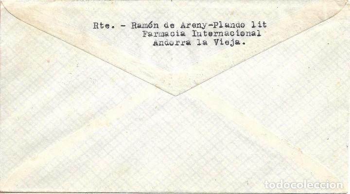 Sellos: PADRE BENITO J FEIJOO 1947 (EDIFIL 1011 DOS SELLOS) EN SOBRE PRIMER DIA CIRCULADO DP VERDE. MUY RARO - Foto 2 - 287891878