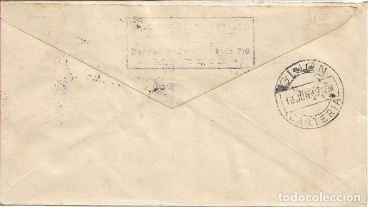 Sellos: MATEO ALEMAN PERSONAJES 1948 (EDIFIL 1036) EN SOBRE PRIMER DIA CIRCULADO DE ET. LLEGADA. RARO ASI. - Foto 2 - 287895538