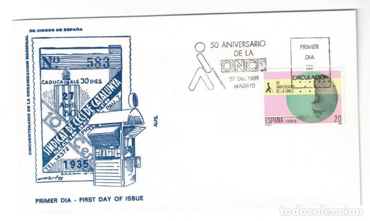 ESPAÑA 1988 EDIFIL 2985 - SOBRE PRIMER DIA (Sellos - Historia Postal - Sello Español - Sobres Primer Día y Matasellos Especiales)