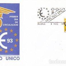 Sellos: EDIFIL 3226, MERCADO UNICO EUROPEO, PRIMER DIA DE 4-11-1992 SFC. Lote 288689643