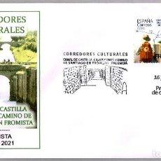 Sellos: MATASELLOS PRIMER DIA - CORREDORES CULTURALES - CAMINO DE SANTIAGO. FROMISTA, PALENCIA, 2021. Lote 288867403