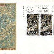Sellos: NAVIDAD 1964 PINTURA DE ZURBARAN (EDIFIL 1630 TRES SELLOS) SPD SIN CIRCULAR SERVICIO FILATELICO. MPM. Lote 288926703