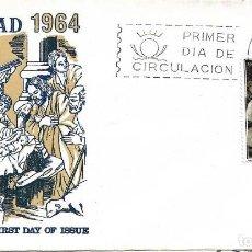 Sellos: NAVIDAD 1964 PINTURA NACIMIENTO ZURBARAN (EDIFIL 1630) EN SOBRE PRIMER DIA FLASH. BONITO Y RARO ASI.. Lote 288927053