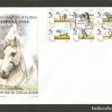 Sellos: ESPAÑA SOBRE PRIMER DIA DE CIRCULACION EDIFIL NUM. 3611/3610A CABALLOS CARTUJANOS. Lote 289329833