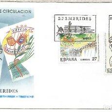 Sellos: ESPAÑA SPAIN FDC LUIS VIVES ORFEON PAMPLONES MUSICA. Lote 289538303
