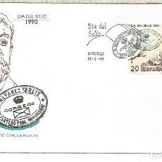 Sellos: ESPAÑA SPAIN FDC DIA DEL SELLO STAMP DAY CARTERO HONORARIO ALVAREZ SEREIX. Lote 289539198