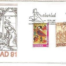 Sellos: ESPAÑA SPAIN FDC NAVIDAD 1991 CHRISTMAS. Lote 289539623