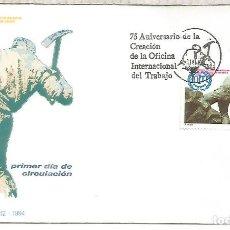 Sellos: ESPAÑA SPAIN FDC ORGANIZACION INTERNACIONAL DEL TRABAJO OIT ILO. Lote 289539798