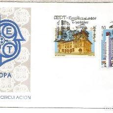Sellos: ESPAÑA SPAIN FDC EUROPA CEPT 1990 ARQUITECTURA VITORIA MALAGA. Lote 289540028