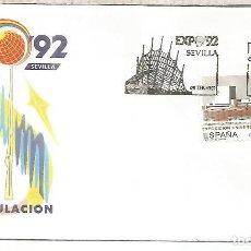Sellos: ESPAÑA SPAIN FDC EXPO 92 SEVILLA. Lote 289540073