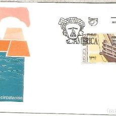 Sellos: ESPAÑA SPAIN FDC AMERICA UPAEP CARABELA COLON. Lote 289540358