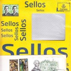Sellos: 2 CURIOSOS SOBRES - CON SELLOS IMPRESOS EN EL SOBRE CORREOS Y CON M.E. Y HOJITA BLOQUE REYES MAGOS. Lote 290016313
