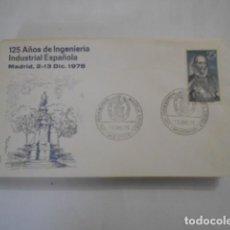 Sellos: ALFIL-125 AÑOS DE INGENIERIA INDUSTRIAL ESPAÑOLA MADRID 1975. Lote 292339143