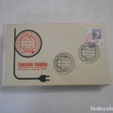 Sellos: X SALON NACIONAL DE LA ELECTRIFICACION-EXPOSICION FILATELICA-MADRID 1973. Lote 292560138