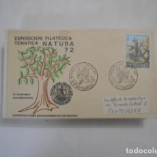 Sellos: EXPOSICION FILATELICA TEMATICA NATURA-72-LEHENENGO AGERI EGUNA-PRIMER DIA DE EMISION. Lote 292560643
