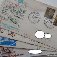 Sellos: 4 SOBRES RIBADESELLA - PIRAGUAS / DESCENSO INTERNACIONAL DEL SELLA - AÑOS: 1956, 1958, 1959 Y 1960. Lote 293336508