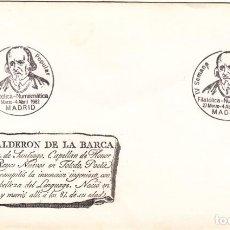 Sellos: SOBRE: 1982 MADRID. IV SEMANA POPULAR - PEDRO CALDERON DE LA BARCA. Lote 293945643