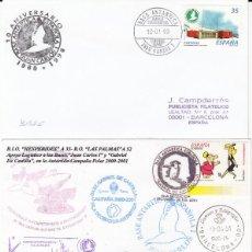 Sellos: FILATELIA POLAR -COLECCIÓN DE 3 SOBRES DE LA BASE ANTARTICA ESPAÑOLA -CAMPAÑAS 1999-2001. Lote 294016043