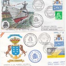 Sellos: EL FERROL NAVAL - BOTADURA Y ENTREGA A LA ARMADA ESPAÑOLA DE LA FRAGATA CANARIAS -1993-1994. Lote 294019878