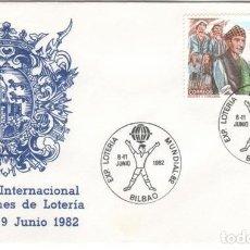 Sellos: SOBRE: 1982 BILBAO. EXPOSICION INTERNANCIONAL DE COLECCIONES DE LOTERIA. Lote 294061343