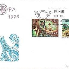 Sellos: EUROPA 1976 ENCAJE CAMARIÑAS Y CERAMICA TALAVERA (EDIFIL 2316/17) EN SPD DEL SERVICIO FILATELICO.. Lote 295453838