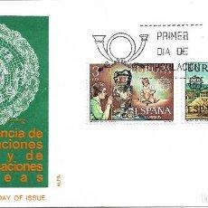 Sellos: EUROPA 1976 ENCAJE CAMARIÑAS Y CERAMICA TALAVERA (EDIFIL 2316/17) EN SOBRE PRIMER DIA ALFIL RARO ASI. Lote 295454458