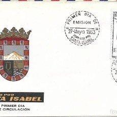 Sellos: ESCUDO DE FERNANDO POO 1963 MATASELLOS PROVINCIA (EDIFIL 1485) EN SOBRE PRIMER DIA DE ARRONIZ. MPM.. Lote 295461773
