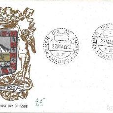 Sellos: ESCUDO DE FERNANDO POO 1963 MATASELLOS MADRID (EDIFIL 1485) EN SPD CIRCULADO DE ALFIL. RARO ASI.. Lote 295463653