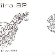 Sellos: RELIGION EXFILNA 82 HOMENAJE CIT A VIRGEN DE CANDELARIA (CANARIAS) 1982. RARO MATASELLOS SOBRE ALFIL. Lote 295464643