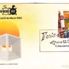 Sellos: SOBRE: 1983 MADRID. FERIA DEL OCIO 83 - CUBA. Lote 295714683