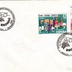 Sellos: SOBRE: 1992 ZARAGOZA. SALON INTERNACIONAL DE MAQUINARIA Y EQUIPOS PARA BODEGAS / EMBOTELLADO. Lote 295715023