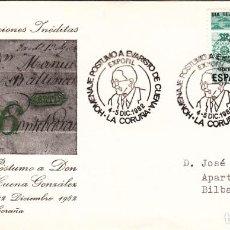 Sellos: SOBRE: 1982 LA CORUÑA. HOMENAJE POSTUMO A EVARISTO DE CUENA. Lote 295716088