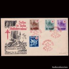 Sellos: ESPAÑA.1º DÍA CIRCULACIÓN.1950 PRO TUBERCULOSOS.LORENA.EDIFIL 1084-1087. Lote 296729498