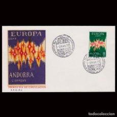 Sellos: ANDORRA.1º DÍA CIRCULACIÓN.1972.EUROPA.EDIFIL 72. Lote 296731158