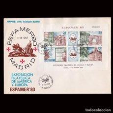 Sellos: ESPAÑA.1º DÍA CIRCULACIÓN.1980 ESPAMER 80.EDIFIL 2583. Lote 296844513